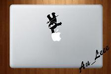 Macbook Air Pro Vinyl Skin Sticker Decal Cute Small Black Ninja Stick Man M166