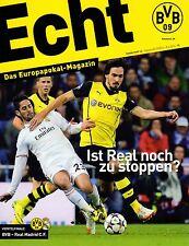 Programmheft # 14 - UEFA CL - BVB 09 Dortmund / Real Madrid - Gameday Magazine