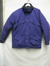 Z6917 The North Face purple and black long sleeve puff lined winter jacket sizeL