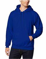 Hanes Men's Pullover EcoSmart Fleece Hooded Sweatshirt,, Deep Royal, Size