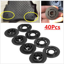 40Pcs ABS Car Mat Clips Floor Fixing Clamps Kit For GM Opel Vauxhall Chevrolet