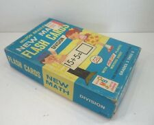 Vintage Milton Bradley New Math Flash Cards No.4594 Division Grade 3 - 6