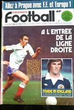 France Football 23/8/1977; Championnat Anglais; Ecosse-Liverpool/ France-Allemag