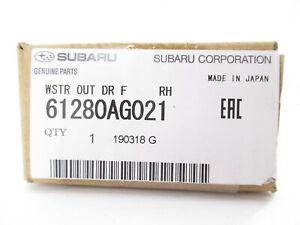 Genuine OEM Subaru 61280AG021 Passenger Front Belt Weather Strip Window Sweep