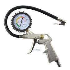 Car Motorcycle Tyre Tire Air Pressure Gauge Dial Meter Compressor Inflator Tool