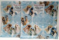 Vintage Gift Wrap 1980s Best Wishes On Your Wedding Day Lot of 2