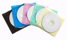 1000 Non Woven CD DVD Multi Color Double Sided Plastic Sleeve - HOLD 2000 discs