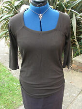 BNWOT White Edition (John Lewis) size 12 dark Brown 3/4 sleeved smart casual top