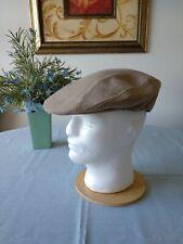 Van Heusen Men 's L Beret Newsboy Cap Hat Cotton-Polyester Blend Lined in Plaid