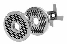 Perforated disc set R70 0 1/8in-0 5/16in with 1Kreuzmesser For all Meat grinders