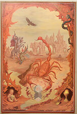 (prl) scorpio johfra verkerke vintage les print art poster collection