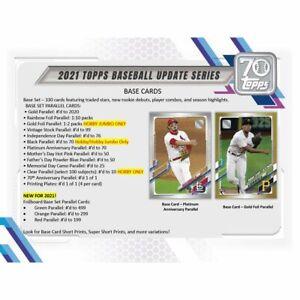 ⚾ 2021 Topps Update HTA JUMBO Baseball Hobby Box FACTORY SEALED Free Shipping ⚾