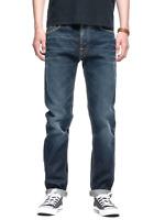 Nudie Men's Regular Tapered Fit Jeans Fearless Freddie Indigo Shadow