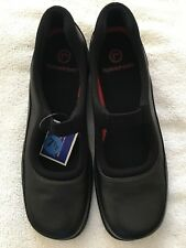NEW ROCKPORT Women Black Leather Flat Size 7.5