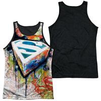SUPERMAN URBAN SHIELDS Licensed Men's Black Back Tank Top Sleeveless Tee SM-3XL