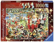 Ravensburger SANTAS FINAL PREPARATIONS 1000 Piece Jigsaw Puzzle Father Christmas