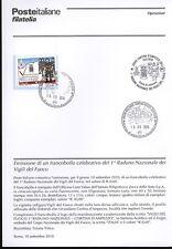 ITALIA 2010 VIGILI DEL FUOCO  BOLLETTINO COMPLETO DI FRANCOBOLLI ANNULLO FDC