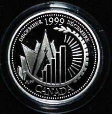 1999 Canada 25 cents Proof Silver Coin - December