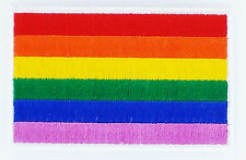 PATCH Ecusson DRAPEAU ARC EN CIEL GAY PRIDE rainbow flag patches NEUF