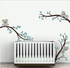 Removable Cute Koala Branch Tree Nature Vinyl Wall Paper Decal Art Sticker Q34