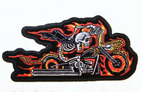 WHAT THE HECK PATCH P5970 hat jacket patches skeleton novelty iron on heat sewon