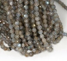 6MM BEAUTY LABRADORITE GEMSTONE AB FACETED ROUND 6MM LOOSE BEADS 16""