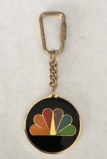 NBC PEACOCK LOGO KEYCHAIN ~ VINTAGE ~