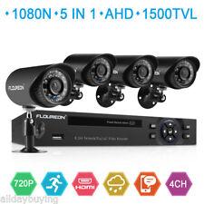 4 CH 1080N AHD DVR 1500TVL 720P Cámara Seguridad Sistema de video vigilancia EU
