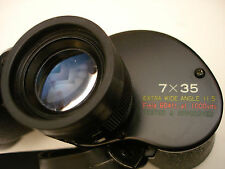 EMPIRE 7X35 EXTRA WIDE ANGLE 11.5* BINOCULARS, LARGE PRISMS, MINT, JAPAN
