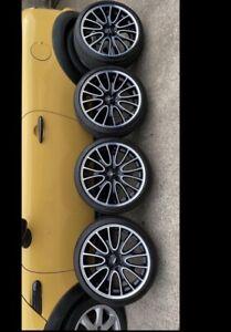 "18""Mini Jcw Alloy Wheels R113 Bridgestone Tyres Fully Refurbed See Pics For Info"