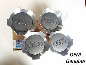 "Audi A6 S6 C5 Wheel Center Hub Cap Cover 17"" 4pcs Allroad  4Z7601165 Genuine"