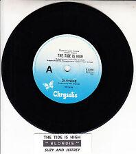 "BLONDIE The Tide Is High 7"" 45 rpm vinyl record + juke box title strip"