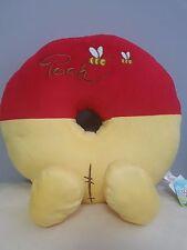 "Disney Winnie The Pooh Plush Cushion Donut Style Jumbo 19"" NWT from Japan"
