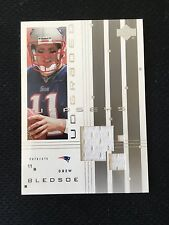 DREW BLEDSOE NEW ENGLAND PATRIOTS GAME USED JERSEY 2000 UD INSERT FOOTBALL CARD