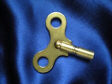 "New Brass Key For Most Haller 12"" 400 Day / Anniversary Clocks"
