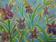 Acrylbild auf Leinwand Blumen abstrakt 30x40