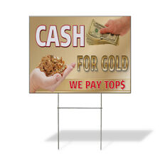 Weatherproof Yard Sign Cash For Gold Business B Golden Lawn Garden Buy Sell