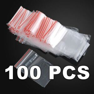 100pcs Lot of 70mm x 100mm ZIP Lock Polybag 70x100mm 70.100 mm 100 Ziplock Bag