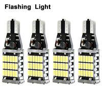4x 6000K White 921 912 T15 Error Free LED Bulb Reverse Backup Turn Signal Light