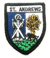 St Andrews Badge Embroidered Sew on patch - FREE UK P&P