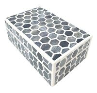 2-ABALONE JEWELRY BOX WHAT-NOT BEACH ACCENT DECOR STORAGE BOX VANITY CHEST SHELL