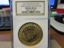 1959 HK-573 Oregon Beaver Dollar NGC MS 66  R-1