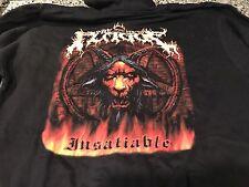 The New Plague 2008 Insatiable Album M Hoodie! Iron Maiden Morbid Angel Slayer