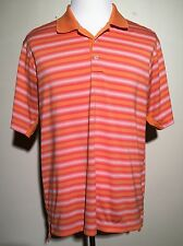 NWOT Adidas Golf Men's ClimaCool Sport Orange Striped Polo Shirt
