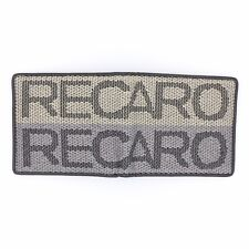 JDM Recaro Custom Stitch Cream Racing Fabric Bifold Wallet Leather Gradate Men