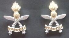 Queen's Gurkha Engineers pair of collar badges