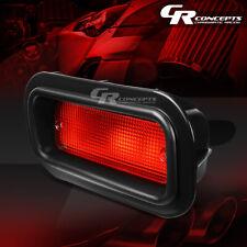 RED LENS REAR BUMPER DRIVING FOG LIGHT LAMP LH+RH FOR 88-00 HONDA CIVIC ED/EE/EG
