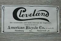 Werbung Anzeige 1900 Cleveland Hamburg American Bicycle Co. Fahrrad Holzschnitt
