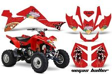 Suzuki LTZ 400 AMR Racing Graphic Kit Wrap Quad Decals ATV 2009-2012 VEGAS RED