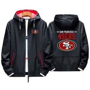Hot! San Francisco 49ers Hoodie Sporty Jacket Coat spring Autumn Tops Team Race